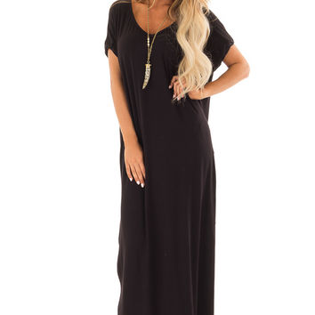 Obsidian Maxi Dress with Side Pockets