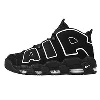 Nike Mens Air More Uptempo Black/White Shoes