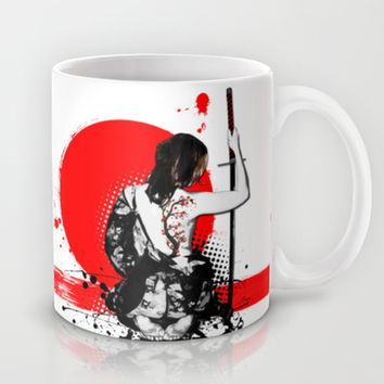 Trash Polka - Female Samurai Mug by Nicklas Gustafsson