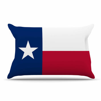 "Bruce Stanfield ""Texas Flag"" Red Blue Pillow Sham"