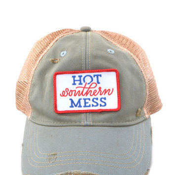 Judith March Hot Southern Mess Hat (Sky Blue)