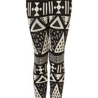 Large Aztec Knitted Leggings