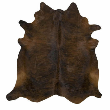 Dark Brindle Brazilian Cowhide Rug