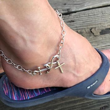 Anchored to Christ Forever Anklet