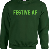Funny Holiday Gift Ideas Christmas Hoodie Xmas Sweater Holiday Season Christmas Pullover Xmas Jumper Holiday Present Festive AF - SA866