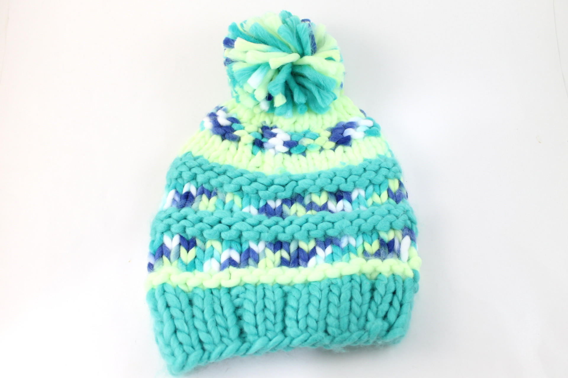 294bd76c51a The North Face Women s Nanny Knit Pom Rave Green Beanie Hat