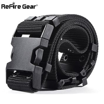 ReFire Gear SWAT US Soldiers Army Tactical Belt Men Military Equipment Combat Waist Belts Sturdy Airsoft Nylon Waistband 5.5cm