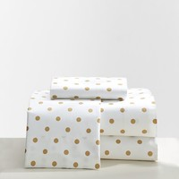 The Emily & Meritt Metallic Dottie Sheet Set