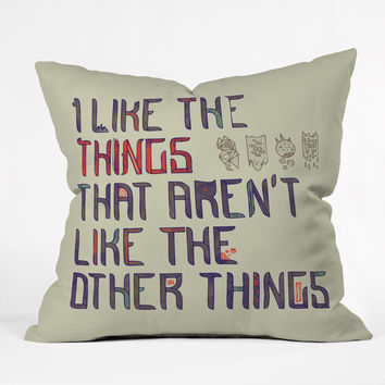 Hector Mansilla The Things I Like Throw Pillow