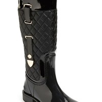 Women's Posh Wellies 'Quizz' Quilted Tall Rain