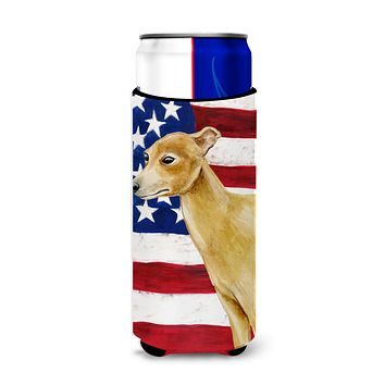 Italian Greyhound Patriotic Michelob Ultra Hugger for slim cans BB9698MUK