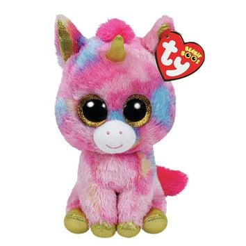 """Ty Beanie Boos Stuffed & Plush Animals Pink Unicorn Doll Toys For Girls With Tag 6"""" 15cm"""