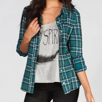 Full Tilt Women's Washed Flannel Shirt