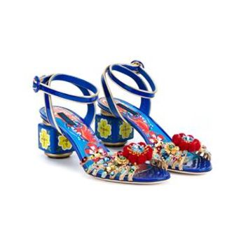 DOLCE & GABBANA | Open Toe Pom Pom Sandals | Womenswear | Browns Fashion