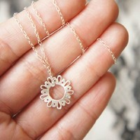 Lingerie Tiny Cute Pendant - Sterling Silver - Hand Sawn