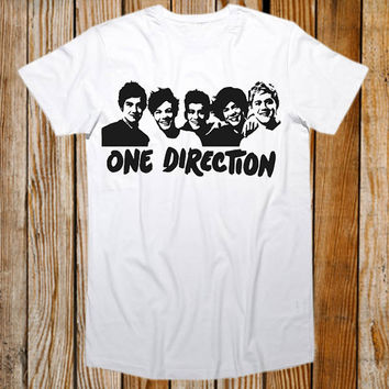Favorite Designs 1D Silhouette, One Direction Tour ScreenPrint T shirt Mens and T shirt Girl