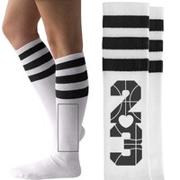 Trendy Basketball Girlfriend Socks you can personalize!
