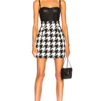 Pierre Balmain Houndstooth Skirt in Black | FWRD