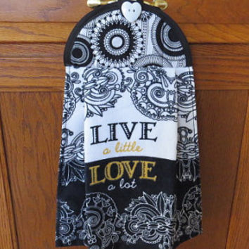 Kitchen Towel,Hanging Hand towel, Hanging Tea Towel, Hanging Dish Towel, Tie Towel