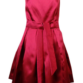 Isaac Mizrahi New York Women's Belted Pleated Dress