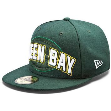New Era Hat Cap NFL Football Green Bay Packers 7 1/4 59fifty 2012 Draft Fitted
