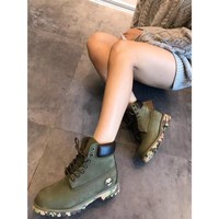 """Timberland Premium 6 Inch Leather Boots """"Amy Green""""10061 TB06716"""