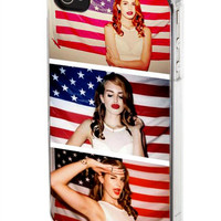 iPhone case, iPhone 4/4s case, iPhone 5 case, Samsung Galaxy s3/s4 case, Lana Del Rey and American Flag
