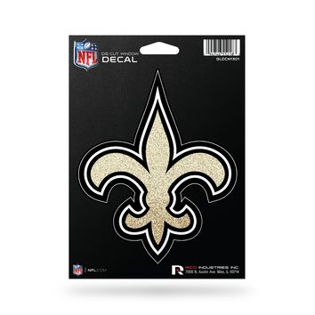 New Orleans Saints Decal 5.5x5 Die Cut Bling