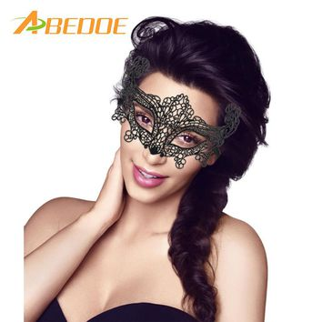 ABEDOE 2pcs/set Lace Face Eye Mask Sexy Women Venetian Masquerade for Funny Halloween Hellouin Party Costume Masque Mascaras