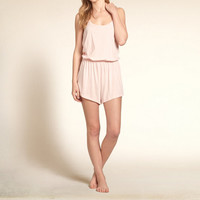 Strappy Knit Romper