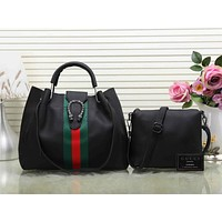 GUCCI Women Fashion Crossbody Satchel Shoulder Bag Handbag Set Two-Piece