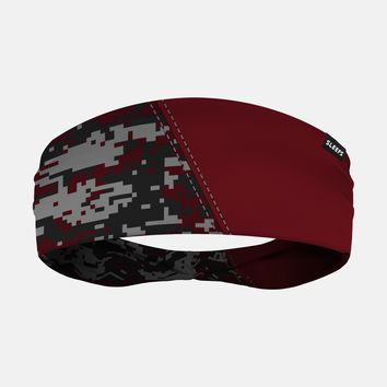 Arsenal Digi Camo Maroon Gray Headband