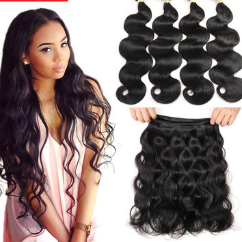 Malaysian Body Wave 4 Bundle Virgin Hair: Body Wave