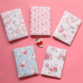 22Style Travel Passport Holder Document Card, Floral Print Passport Case, passport cover, passport holder Free Shipping