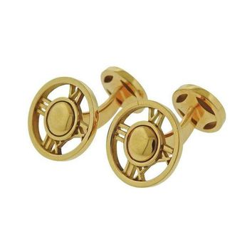 DCCKG2C Tiffany & Co. Atlas Gold Cufflinks
