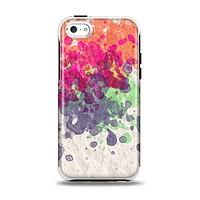 The Vintage WaterColor Droplets Apple iPhone 5c Otterbox Symmetry Case Skin Set