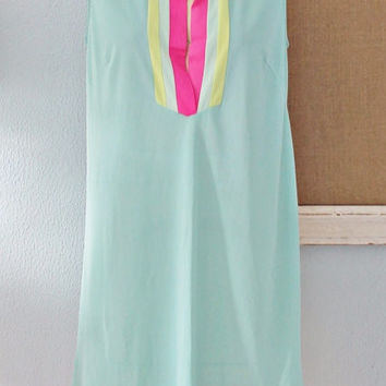 Vintage 1960s Colorblock + Day-Glo Nightie