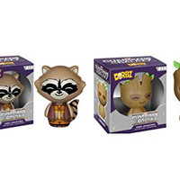 Funko Dorbz Guardians of the Galaxy Groot and Rocket Raccoon Action Figure