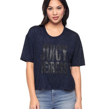 Burnout Roses Juicy Heiress Tee by Juicy Couture
