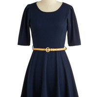 ModCloth Mid-length Short Sleeves A-line Simple Kind of Dress