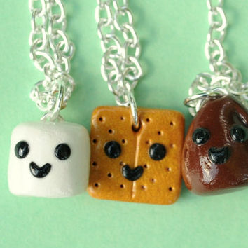 Kawaii Smores 3 Way Trio Best Friend by PumpkinPyeBoutique on Etsy