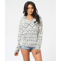 Billabong Women's Burned Out Pullover Hoodie