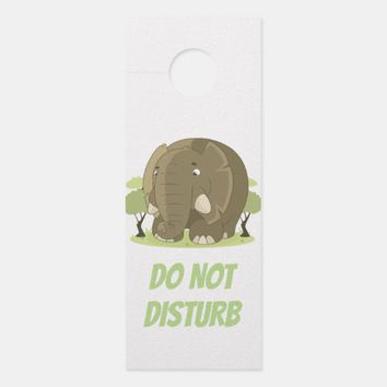 Cute Cartoon Elephant Door Hanger