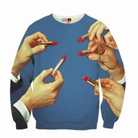 MSGM AND TOILET PAPER LIPSTICK SWEATSHIRT - WOMEN - JUST IN - MSGM AND TOILET PAPER