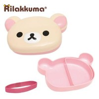 Strapya World : San-X Rilakkuma Face-Shaped Bento Lunch Box (Korilakkuma)【Toys】