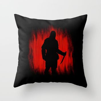 The assassin rippers bloody sunday Throw Pillow by Badbugs_art