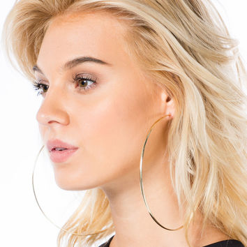 Bigger The Better Hoop Earrings GoJane.com