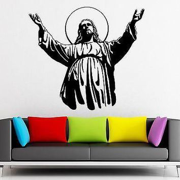Wall Sticker Vinyl Decal Jesus Christ Christian Religion Unique Gift (ig1913)