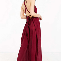 Band Of Gypsies Grecian High-Neck Crepe Maxi Dress - Urban Outfitters
