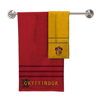 Harry Potter ALL HOUSES Bath Towel Hand Towel 2 Piece Set